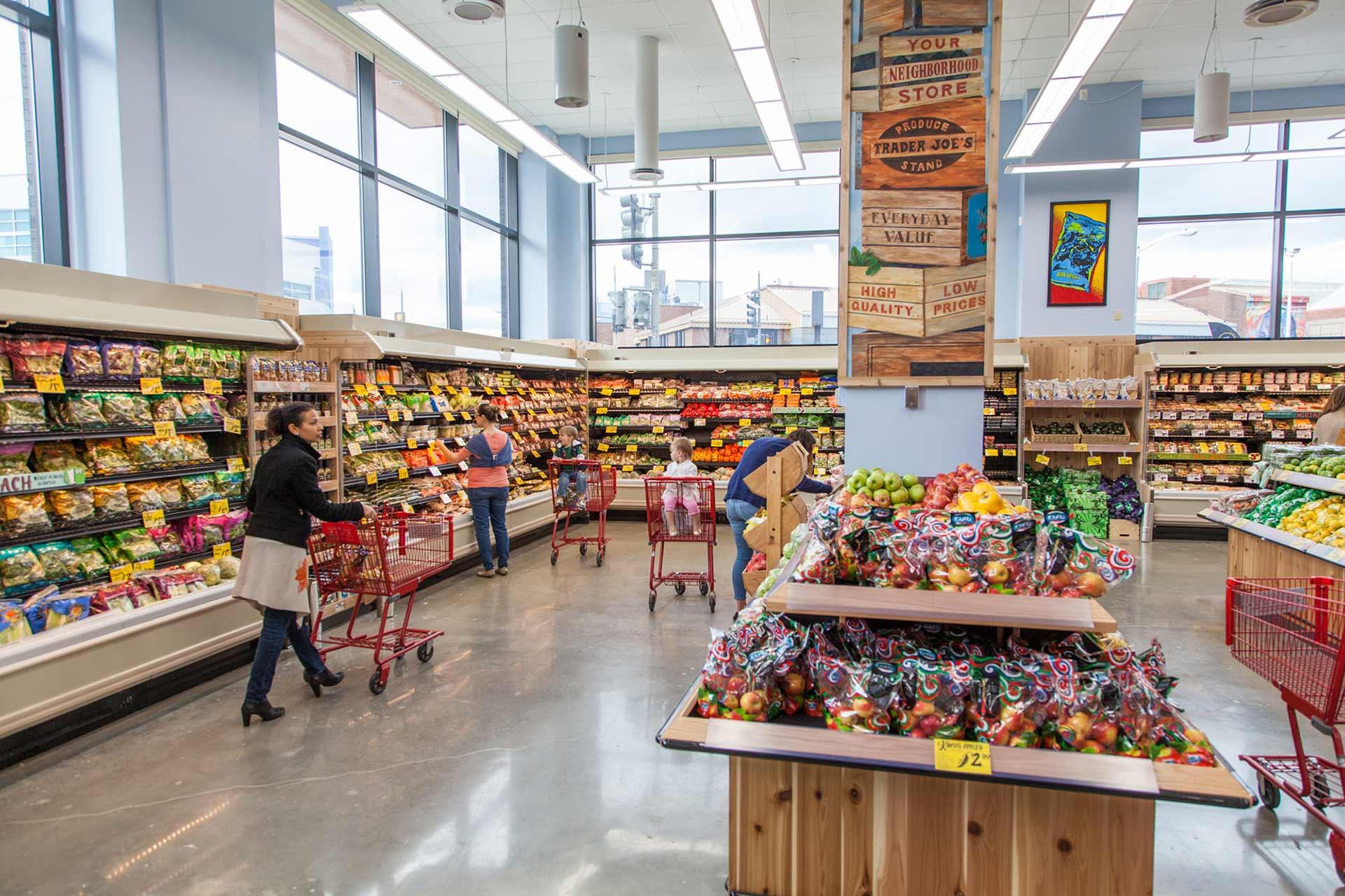 trader joes supermarket produce area