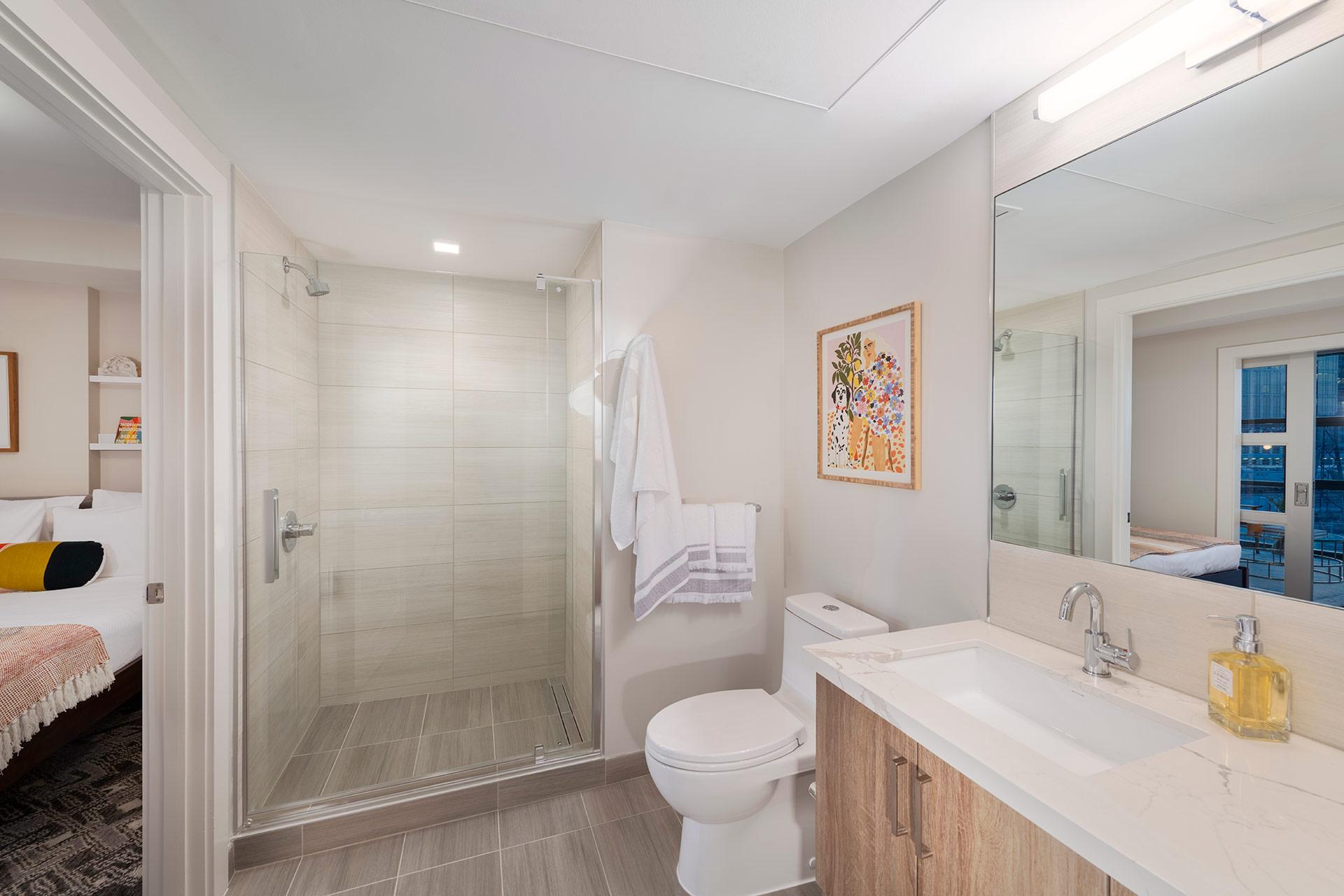 bathroom vanity mirror toilet shower
