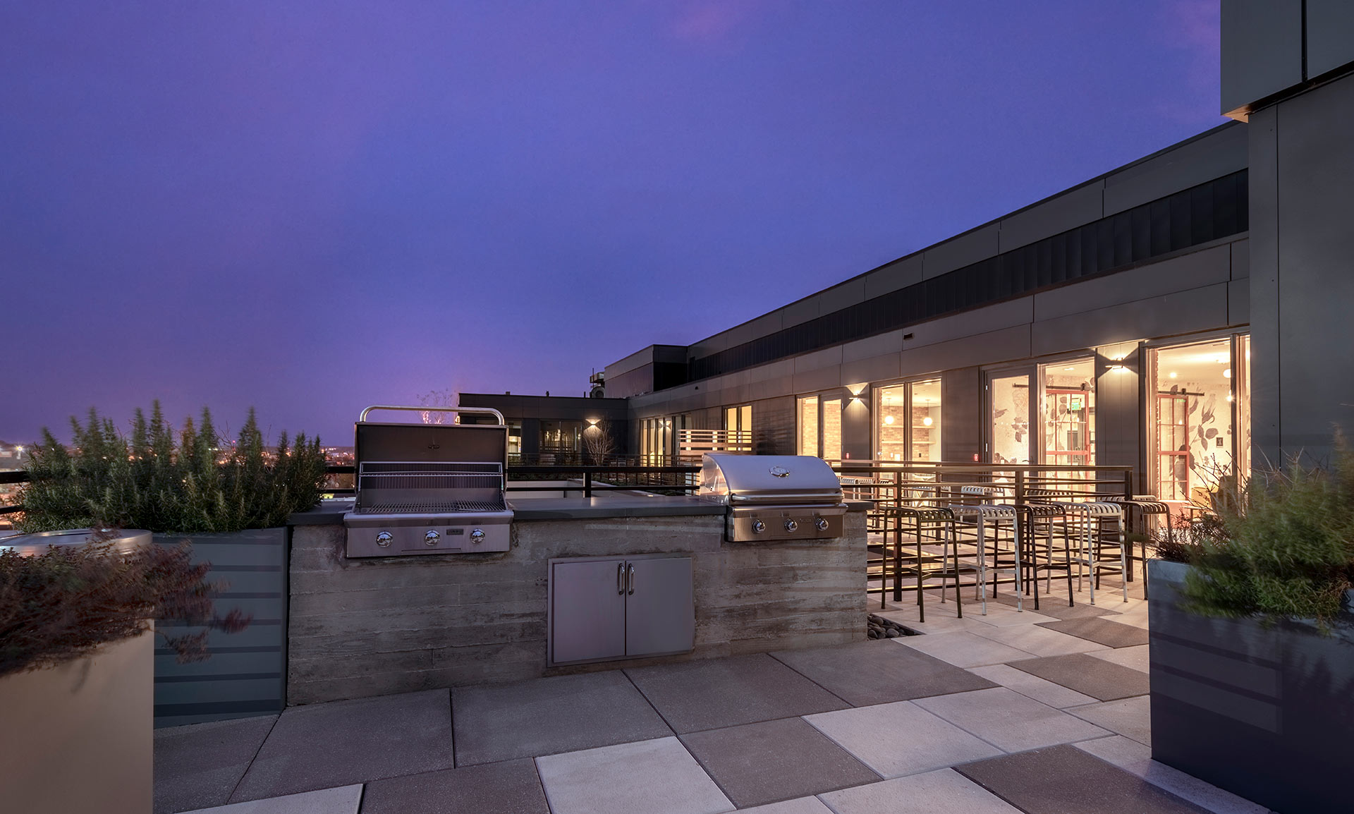 rooftop grilling stations
