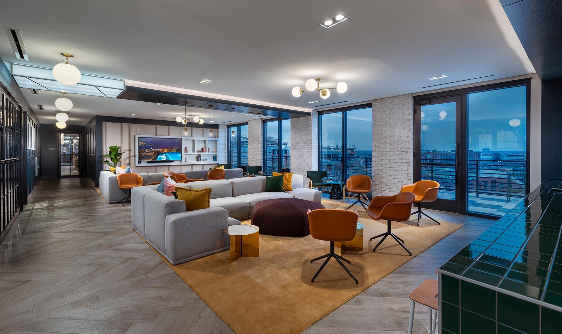 large penthouse lounge area