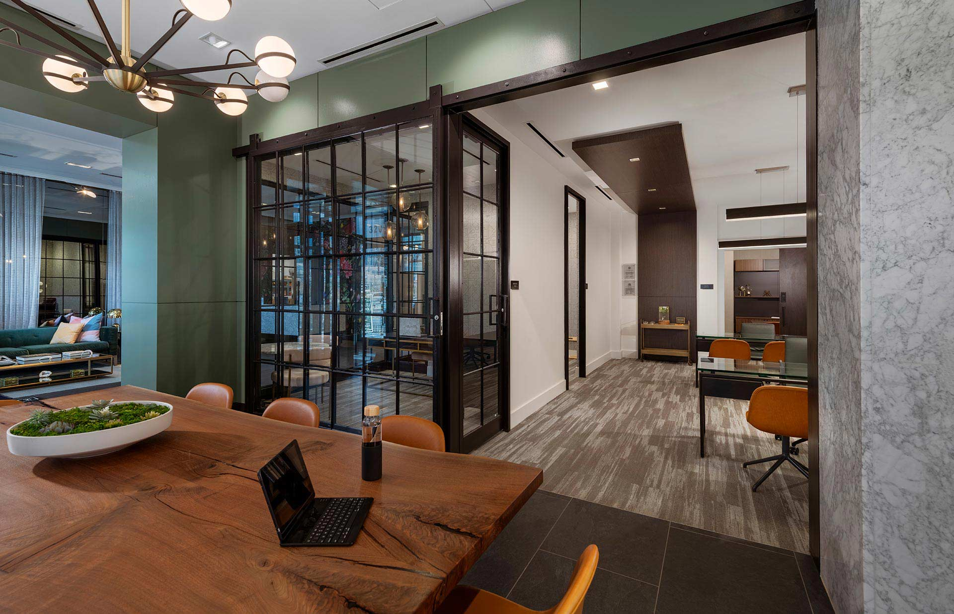 leasing office with conference table