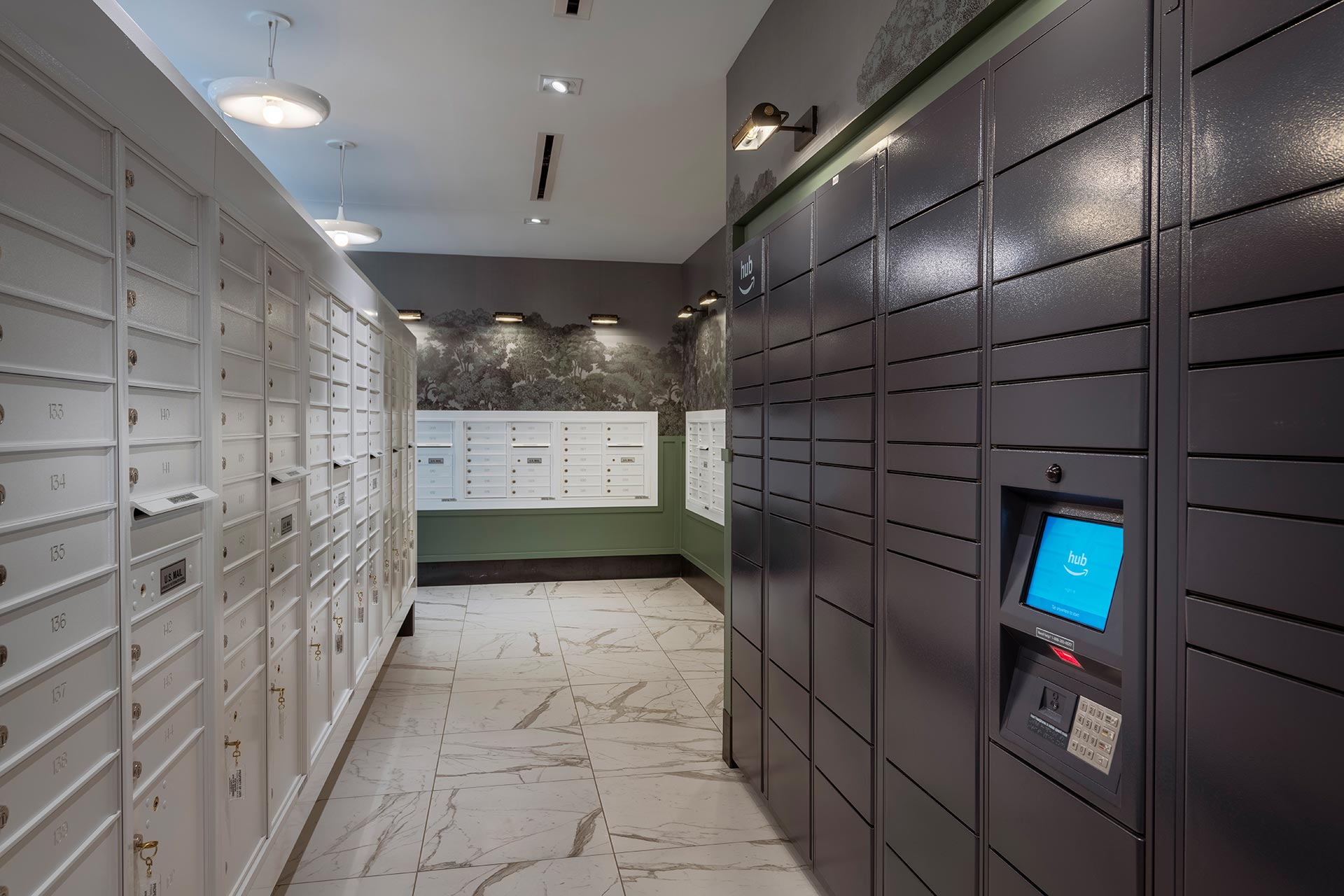 mail room package storage